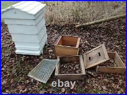Traditional bee hive, working and complete WBC beehive, antique, garden ornament