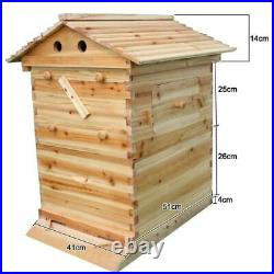 Upgraded Pro Beehive Wooden Bee Hive House Beekeeping Cedar Super Brood Box UK