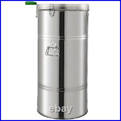 VEVOR 2 Frame Manual Beehive Honey Extractor Centrifugal Force Stainless Steel
