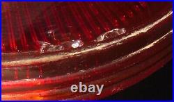 VINTAGE ANTIQUE ALADDIN RUBY RED BEEHIVE OIL LAMP w ORIGINAL MODEL B BURNER OLD