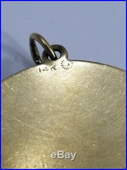 Vintage 14K Dankner Honey BEEHIVE JeWeLed Charm/Pendant 14.5grams