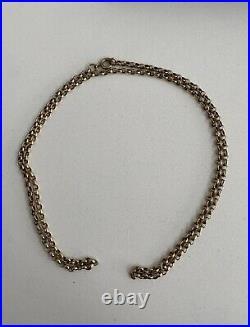 Vintage 9ct gold beehive design link Belcher chain. Fully hallmarked. 13 Grams