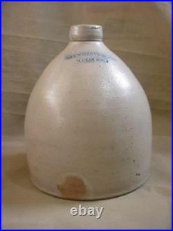 Vintage A. O. Whittemore Havana Ny Salt Glaze Stoneware Bee Hive Jug 1800's