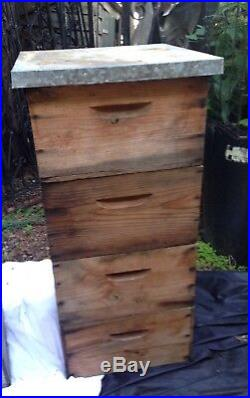 Vintage French Bee Hive With Frames