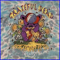Vintage Grateful Dead T Shirt How Sweet It Is 1996 Honey Bear Single Stitch XL