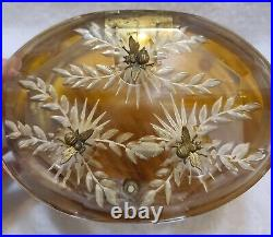 Vintage Llewellyn Lucite Beehive Bees Handbag Purse