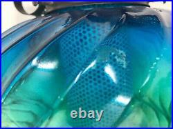 Vintage Mid Century Retro Hanging Swag Beehive Light Aqua/Green 11Ft Chain FUNKY