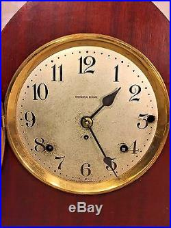 Vintage Seth Thomas Sonora #14 5 Bell Chime Clock Beehive Case Runs