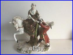 Volkstedt dresden sitzendorf vienna beehive mark horse figurine rare porcelain