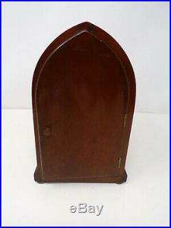 Vtg beehive Cathedral arch gothic mantle clock Seth Thomas with key works! 387