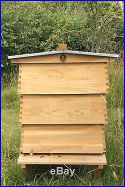 WBC Beehive Cedar Hive 3 Lifts Porch 2 Super 1 Brood Gabled Roof