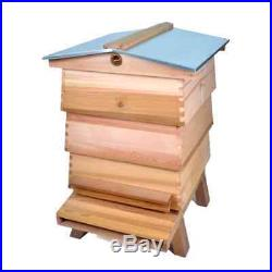 WBC Beehive Wester Red Cedar 3 Lifts 2 Super 1 Brood Gabled Roof, Floor, etc
