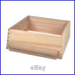 WBC Beehive Western Red Cedar 3 Lifts 2 Super 1 Brood Gabled Roof, Floor