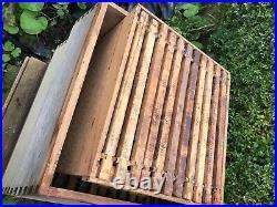 WBC cedar Beehive, stand/floor/ 4 lifts/ 1 super/ queen excluder/ roof, frames