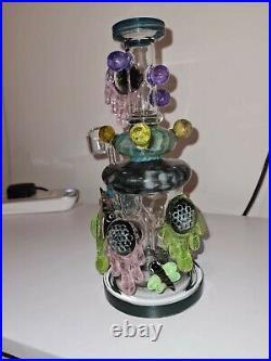 WOW LOOKAH TATTOO BONG 10 Beehive Heavy Glass Water Pipe by TATAOO