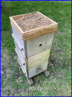 Warre bee hive. Three box modified design with extra thick walls, complete hive