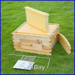 Wooden Beehive House Beekeeping Storage Tool Garden Bee Hive Supplies Equipments