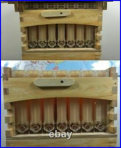 Wooden Beekeeping House Box+ Automatic Harvest Honey 7pcs Beehive Frames Kit